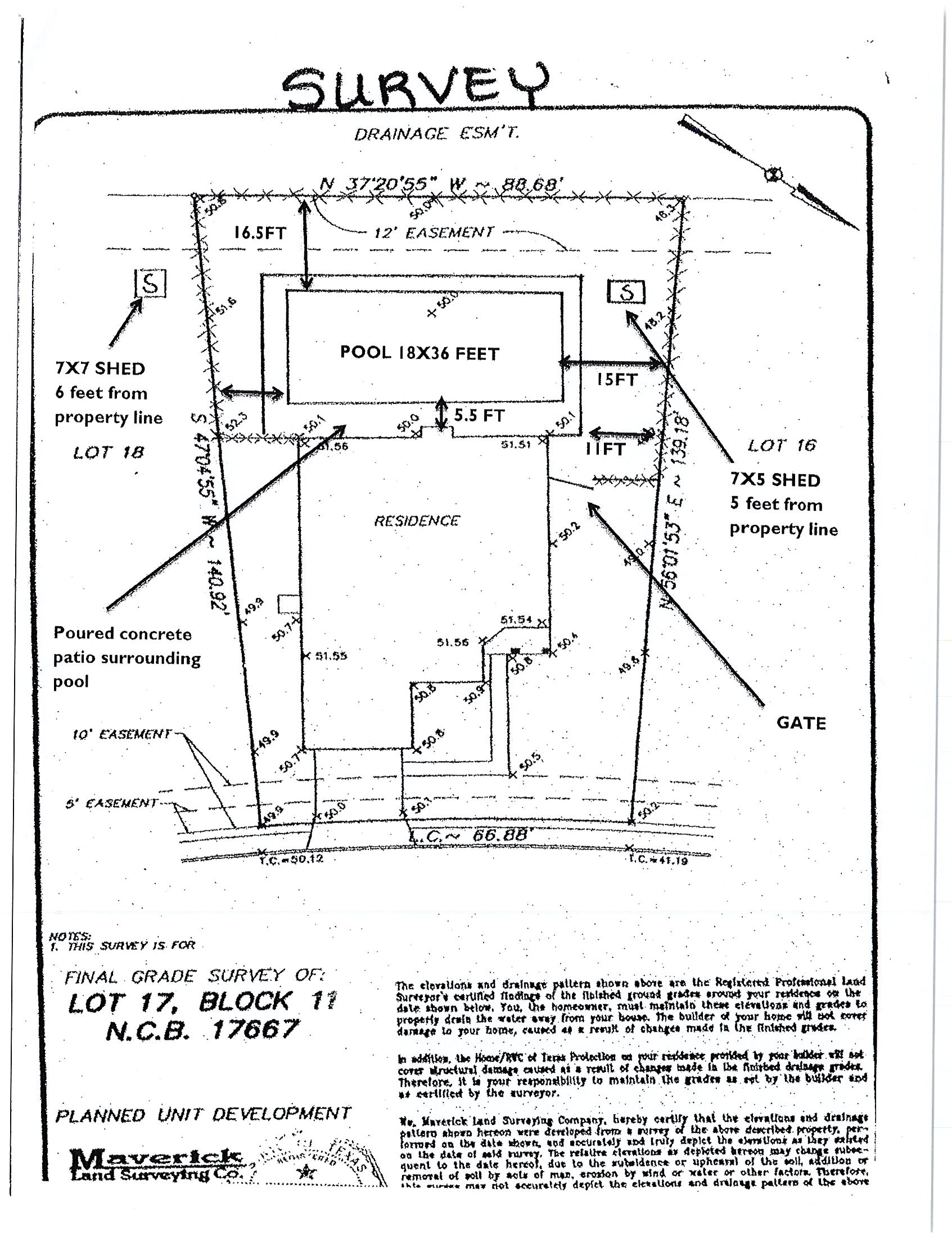 example of a survey drawing