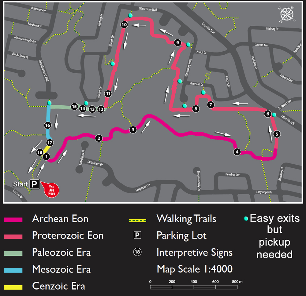 Geotime trail map