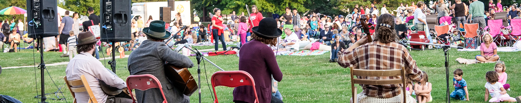 Group of musicians playing in Waterloo Park